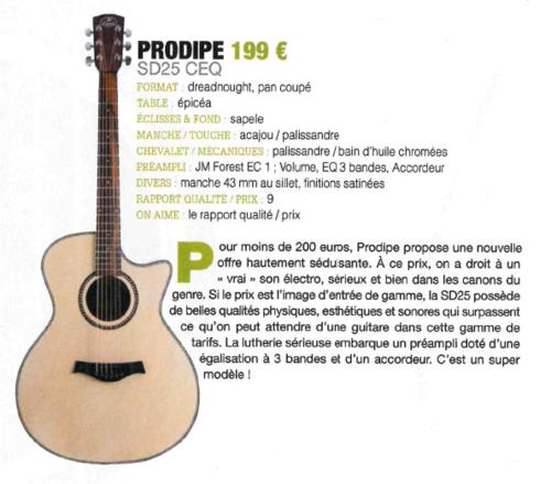 SD25 CEQ Guide achat 2018 - Guitarist Acoustic Unplugged
