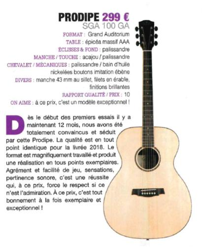 SGA100 Guide achat 2018 - Guitarist Acoustic Unplugged