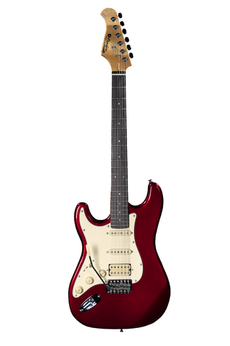 Prodipe Guitars ST83LHRA Candy Red
